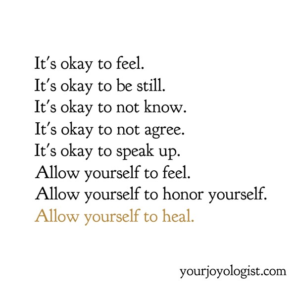 It's okay to feel.